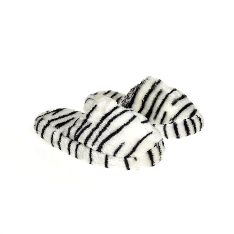 Zapatillas con estampado de animales en suave peluche