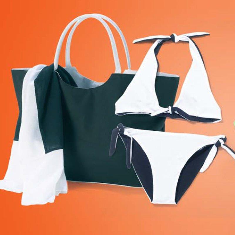 Bikini mujer reversible + Bolsa. Talla: 50-54
