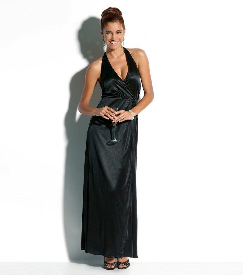 Vestido fiesta mujer largo negro