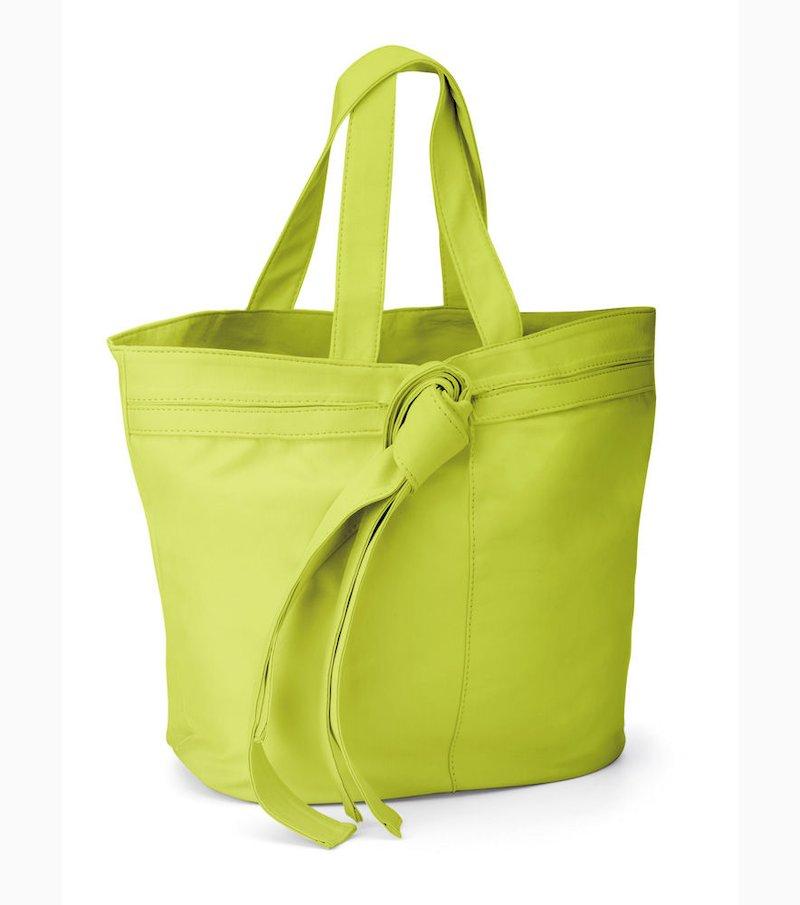 Maxi bolso mujer con lazo material sintético