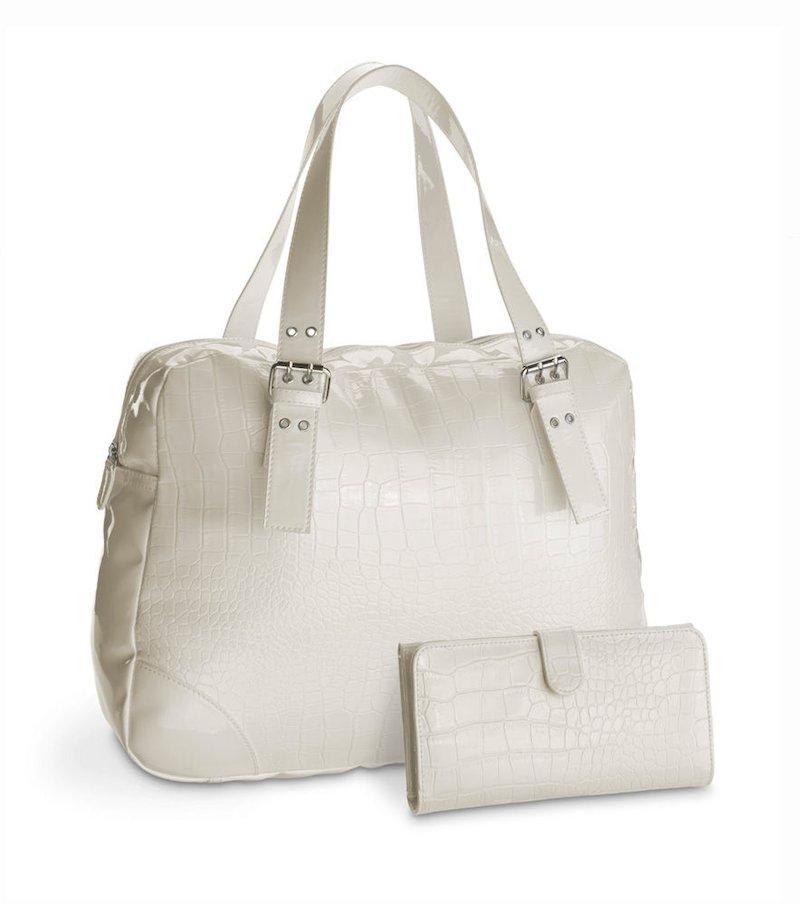 Conjunto mujer bolso y monedero blanco