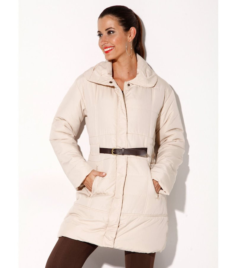 Abrigo mujer acolchado con cinturón