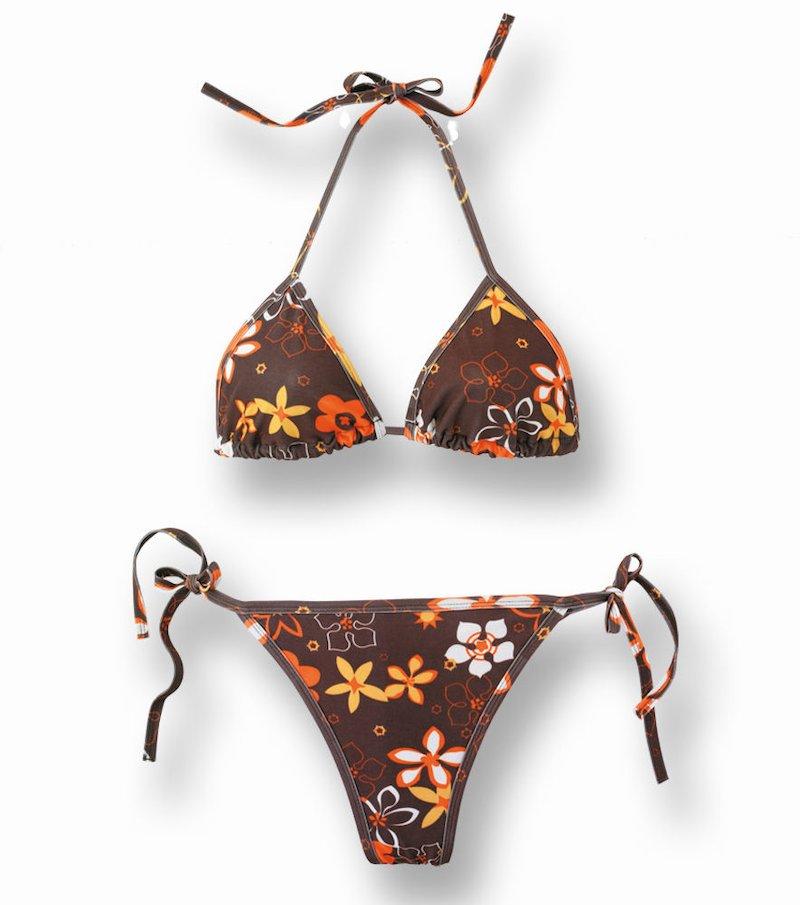 Bikini mujer 2 piezas estampado - Naranja