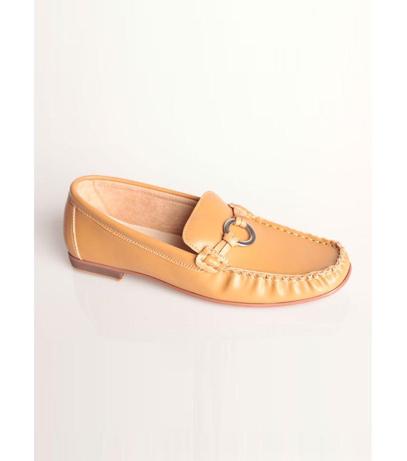 Zapatos planos mocasines mujer símil piel