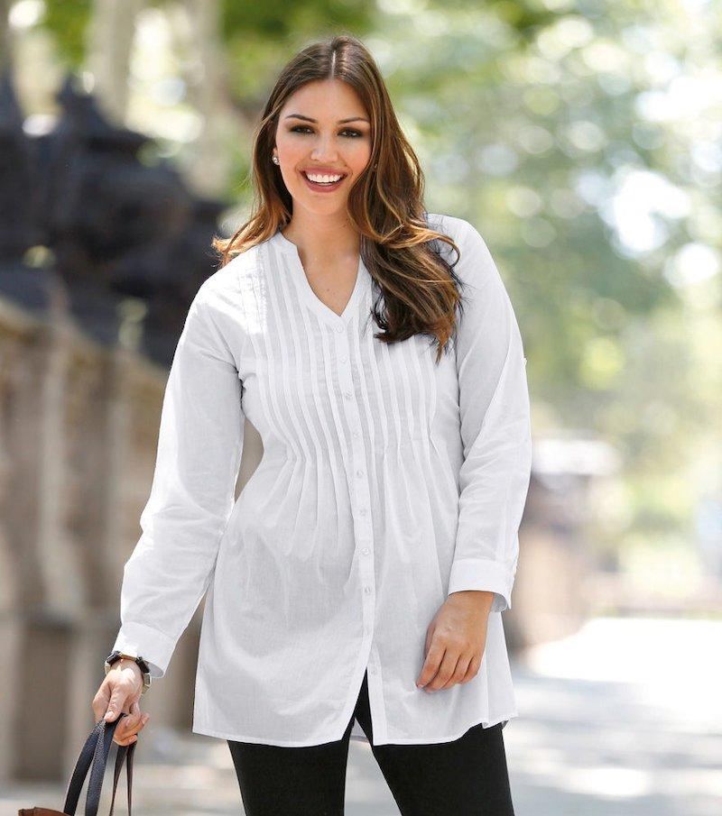 Blusa mujer manga larga regulable