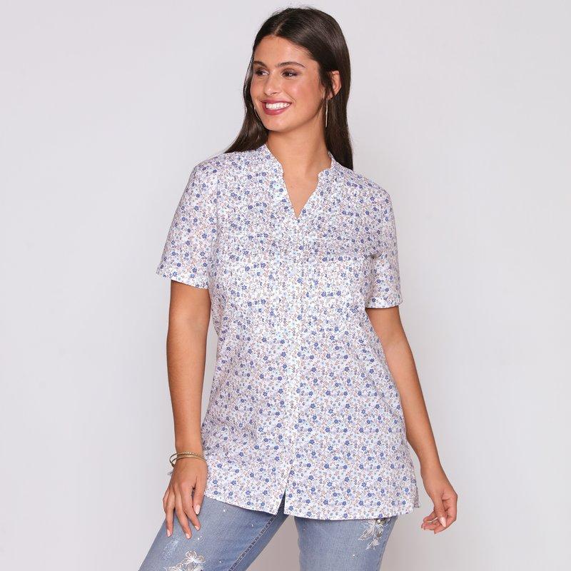 Camisa mujer manga corta con botones