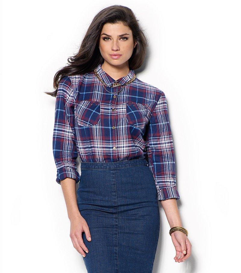 Camisa mujer franela de cuadros