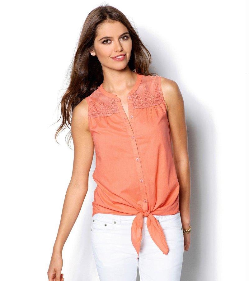 Camisa mujer sin mangas 100% algodón