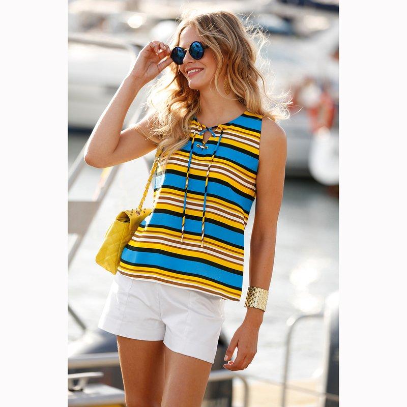 Blusa mujer rayas náuticas multicolores