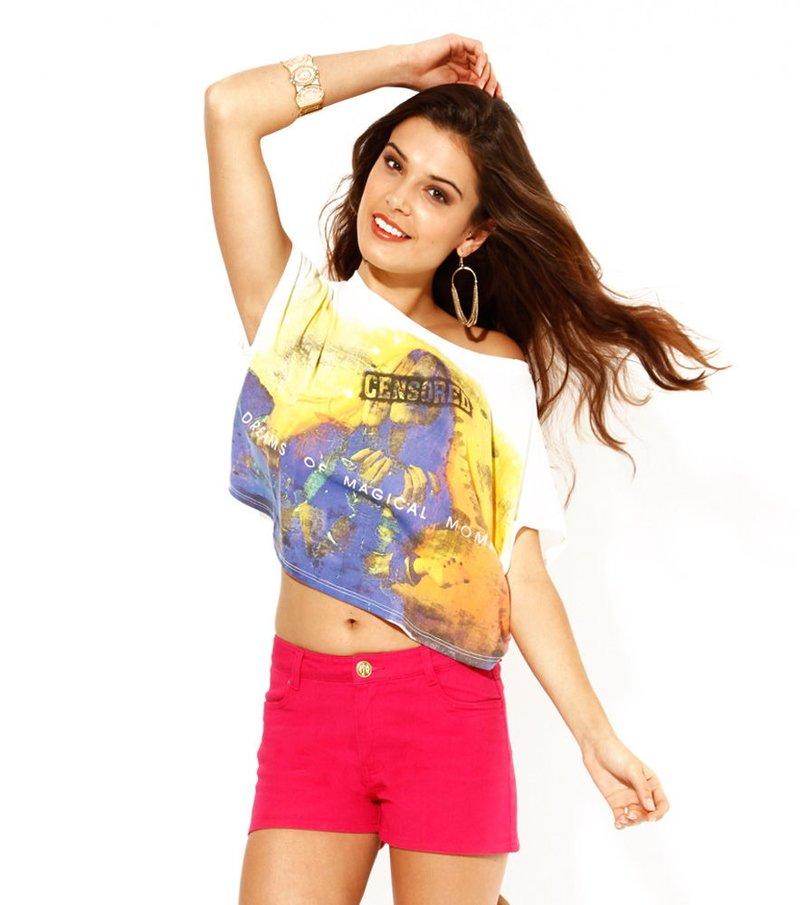 Camiseta para mujer crop top estampada