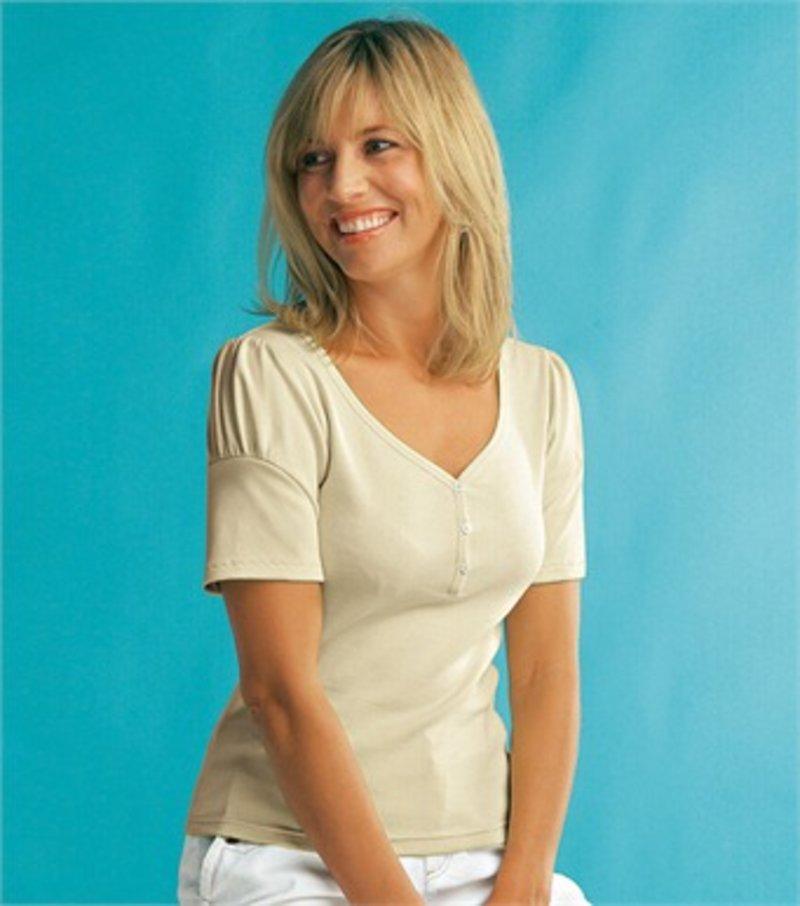 Camiseta manga corta - Beige