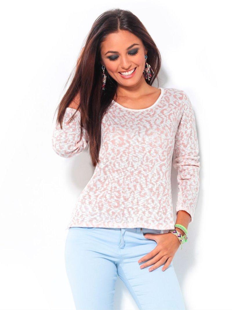 Jersey mujer tricot con abertura en la espalda