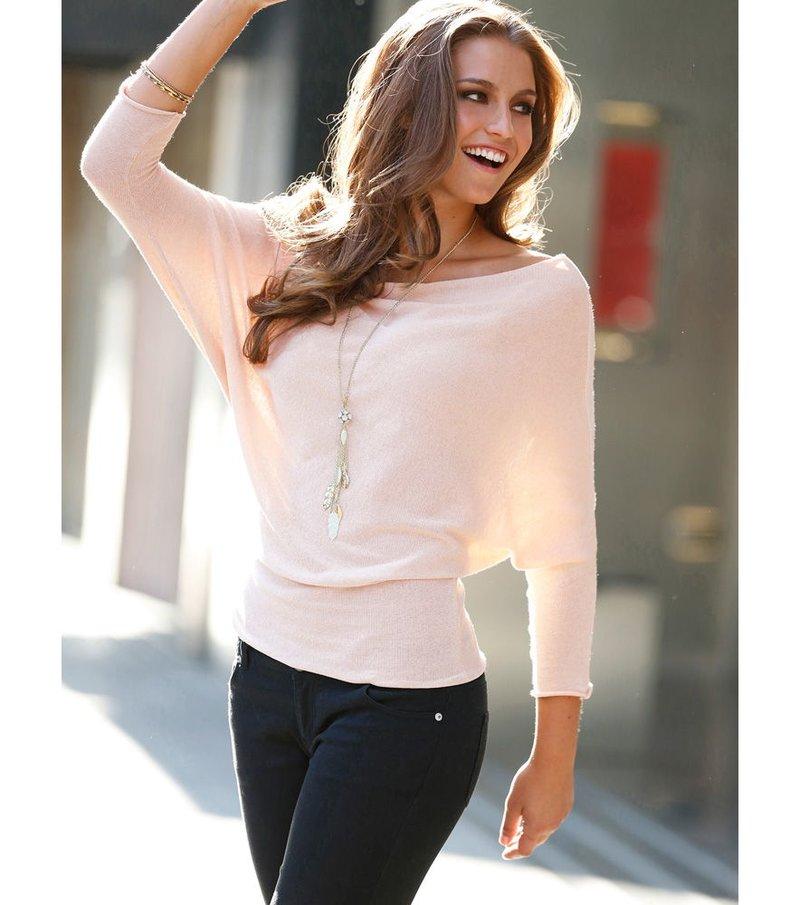 Jersey mujer manga larga murciélago tricot
