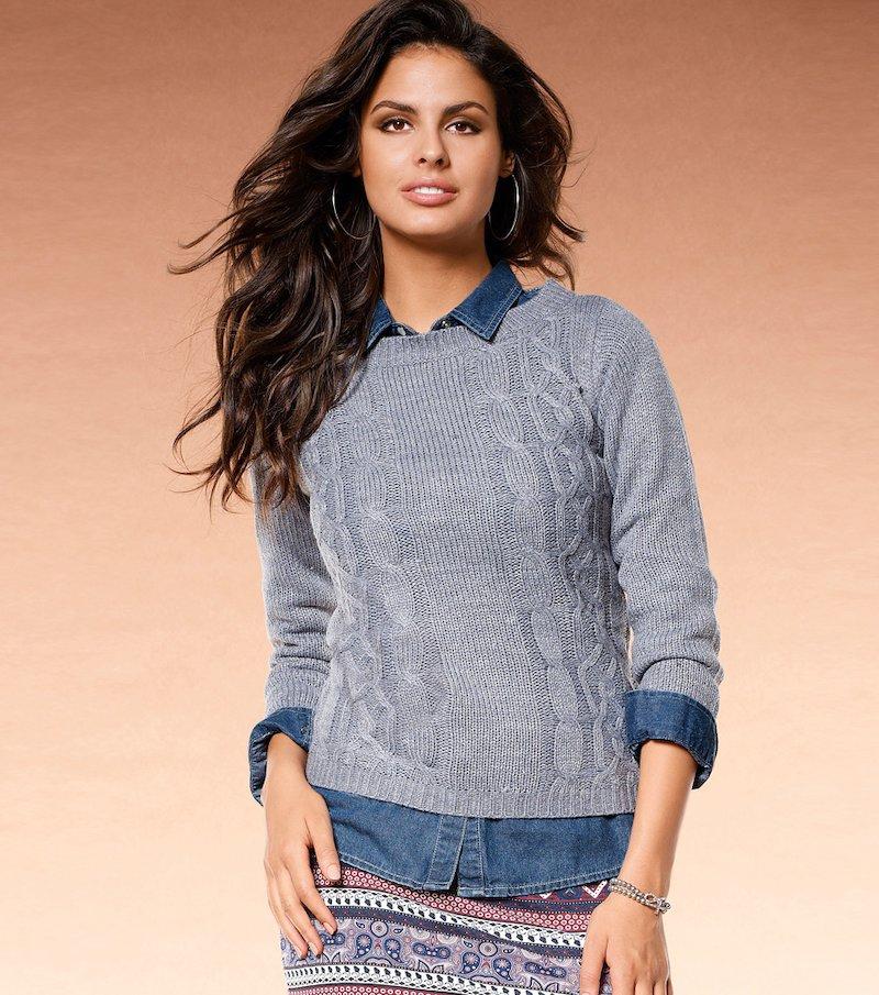 Jersey mujer manga larga punto tricot