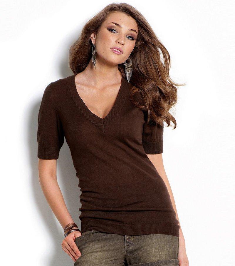 Jersey mujer manga corta tricot