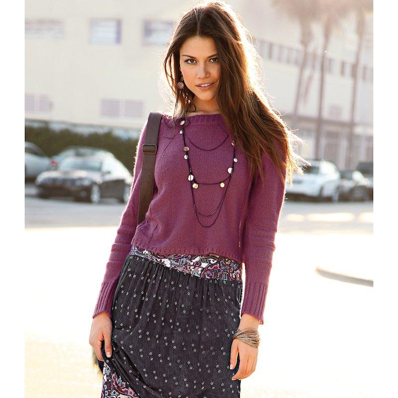 Jersey mujer manga larga tricot