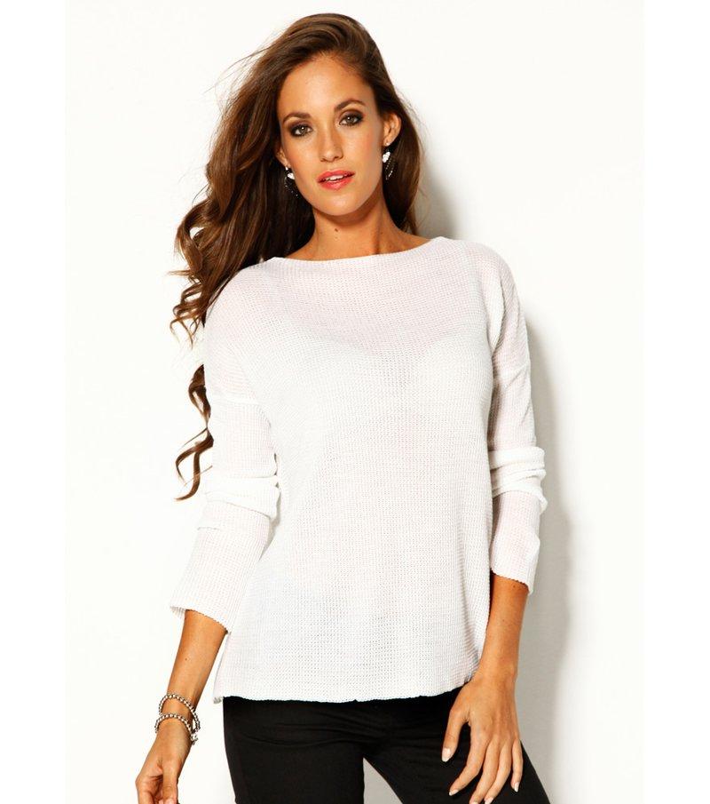 Jersey mujer manga larga tricot brillante