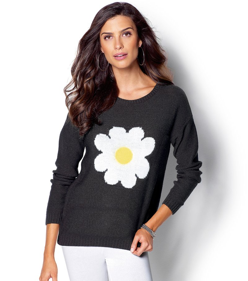 Jersey mujer manga larga tricot margarita