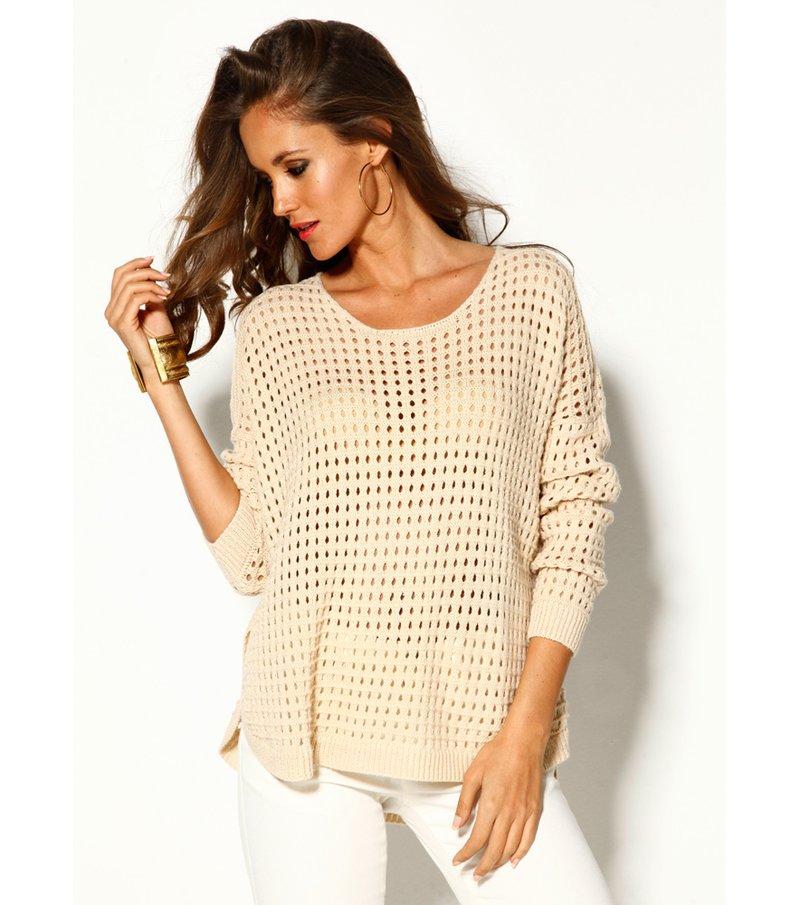 Jersey mujer manga larga tricot calado