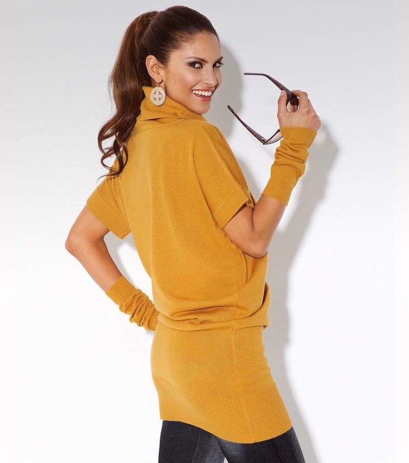 Maxi jersey mujer manga corta tricot