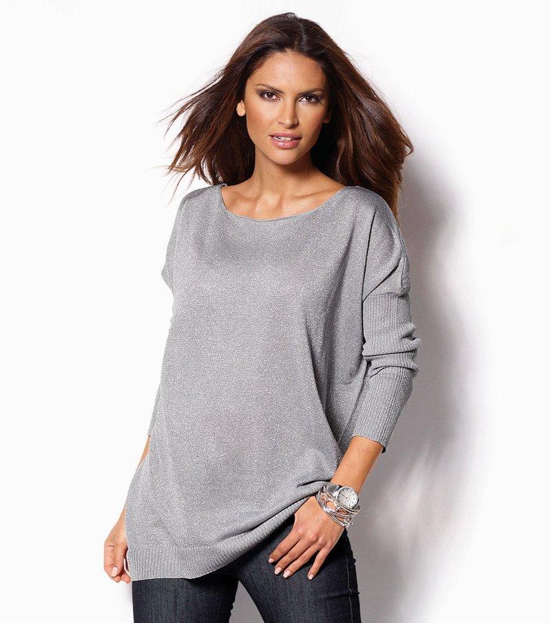 Jersey mujer manga larga tricot metalizado