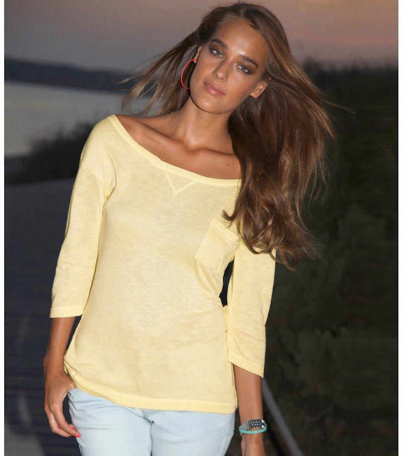 Jersey mujer manga 3/4 fino punto tricot