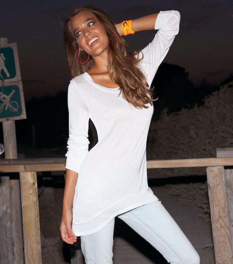 Maxi jersey mujer manga larga 100% viscosa