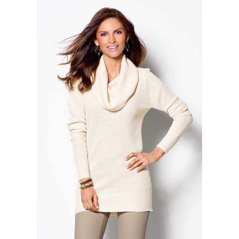 Jersey mujer manga larga tricot escote desbocado
