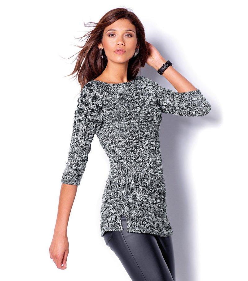 Jersey largo mujer manga 3/4 tricot