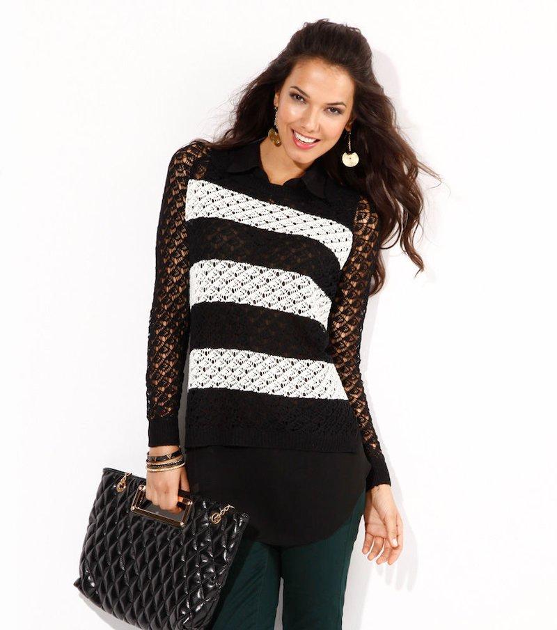 Jersey mujer manga larga tricot y blusa interior