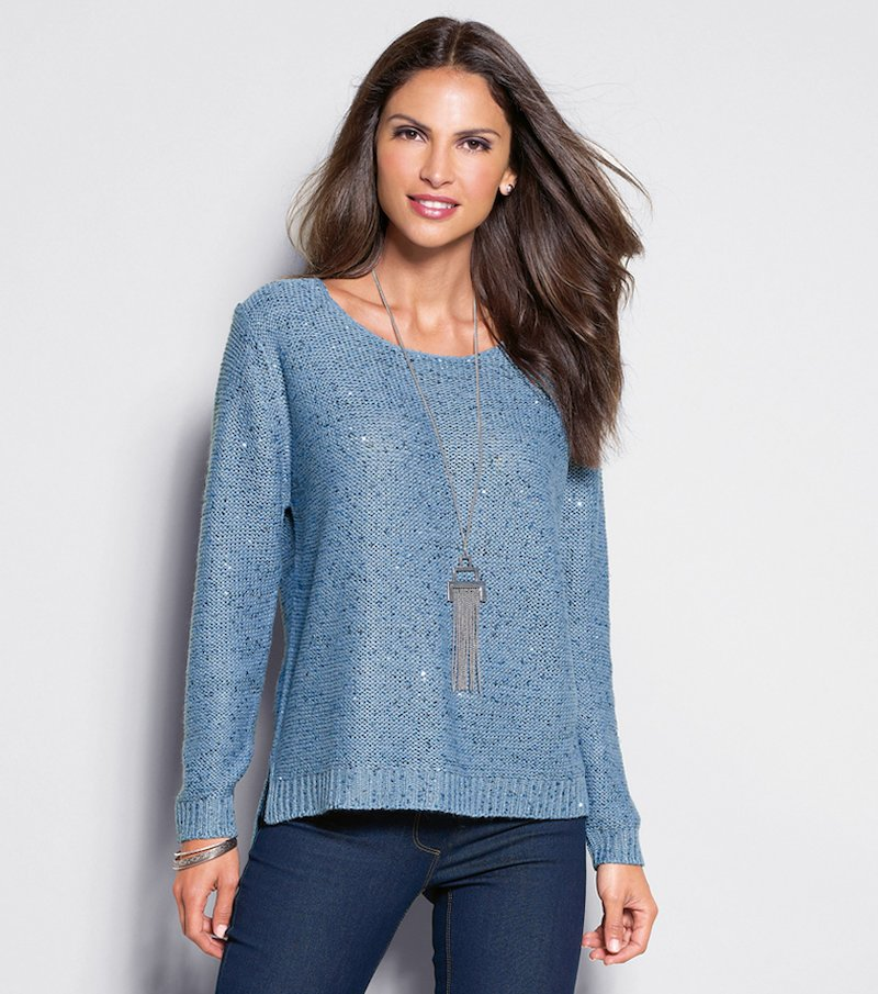 Jersey mujer tricot con lentejuelas