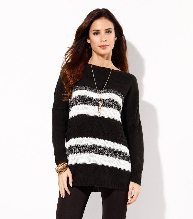 Maxi jersey mujer punto tricot fantasía rayas
