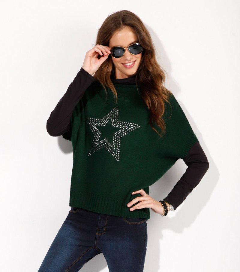 Jersey manga corta tricot estrella tachuelas
