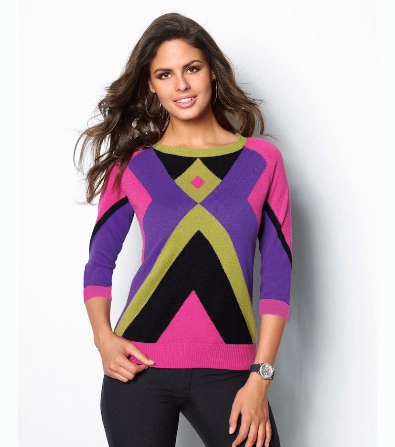 Jersey mujer manga 3/4 suave punto tricot