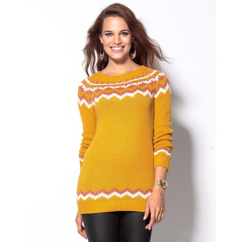 Jersey mujer tricot jacquard
