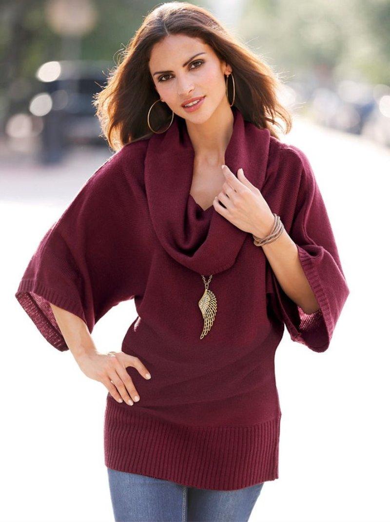 Jersey tricot mujer manga 3/4 desbocado