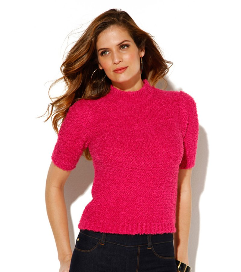 Jersey para mujer manga corta mohair