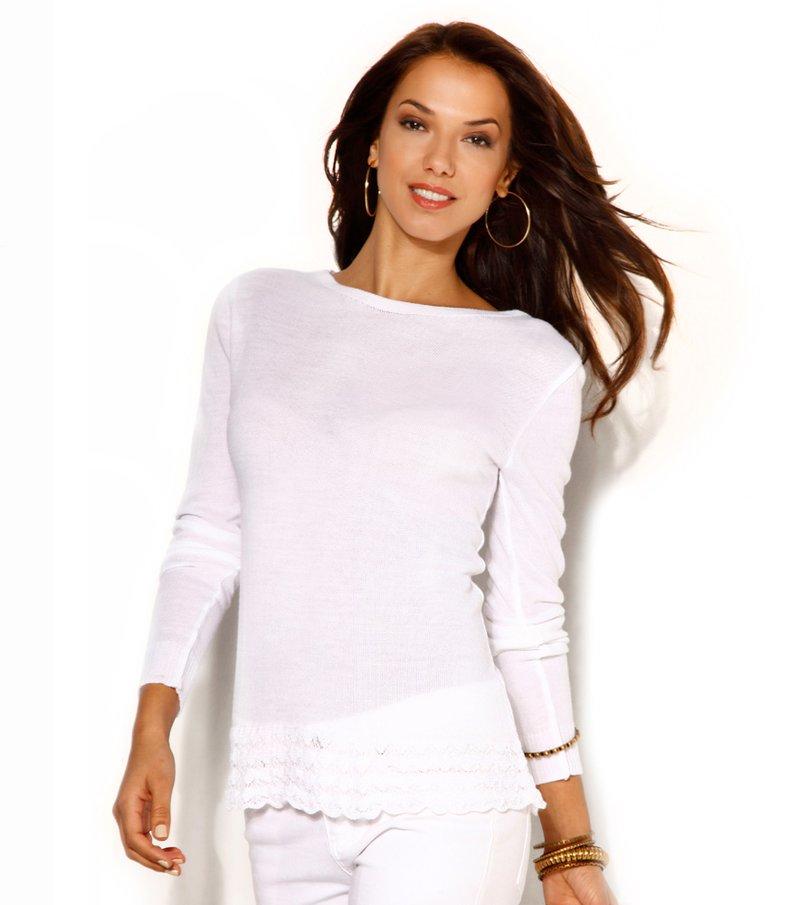 Jersey para mujer tricot con volante