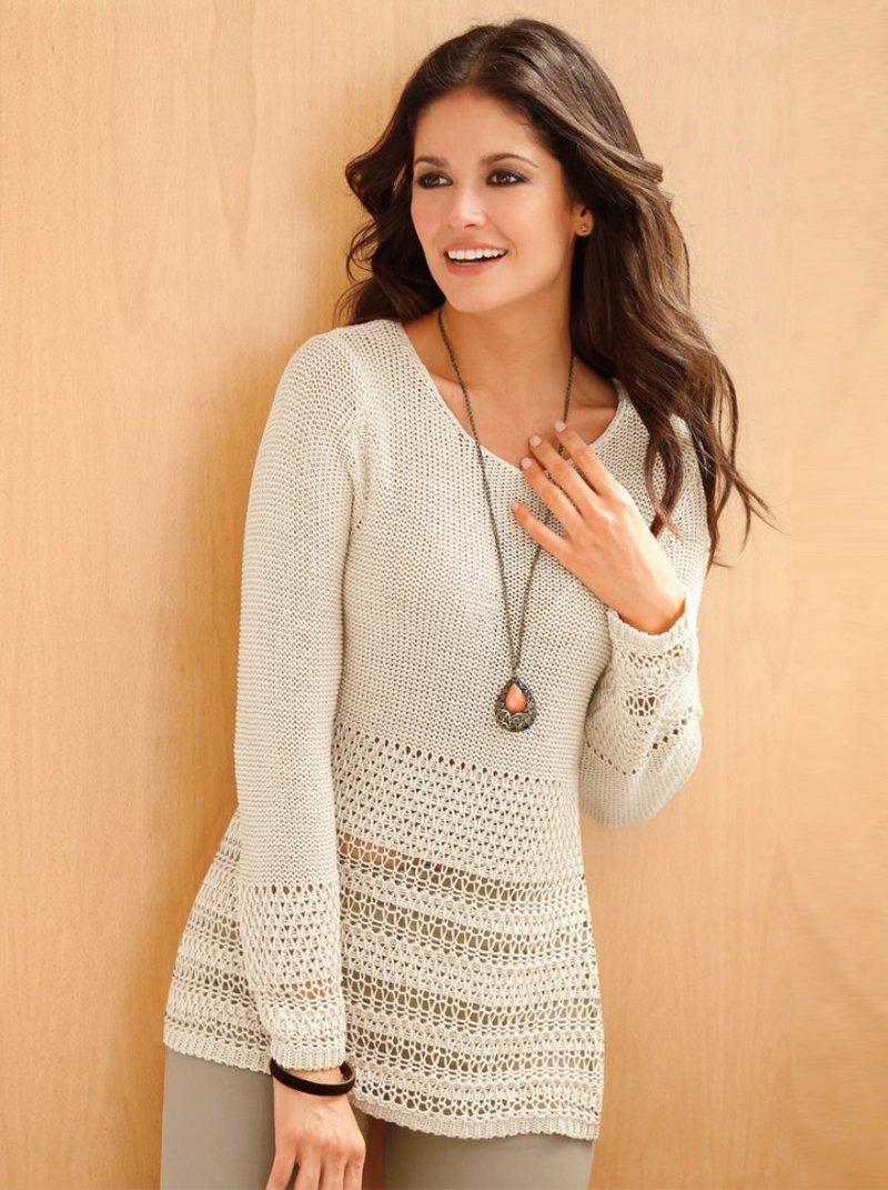 Jersey mujer tricot fantasía calado