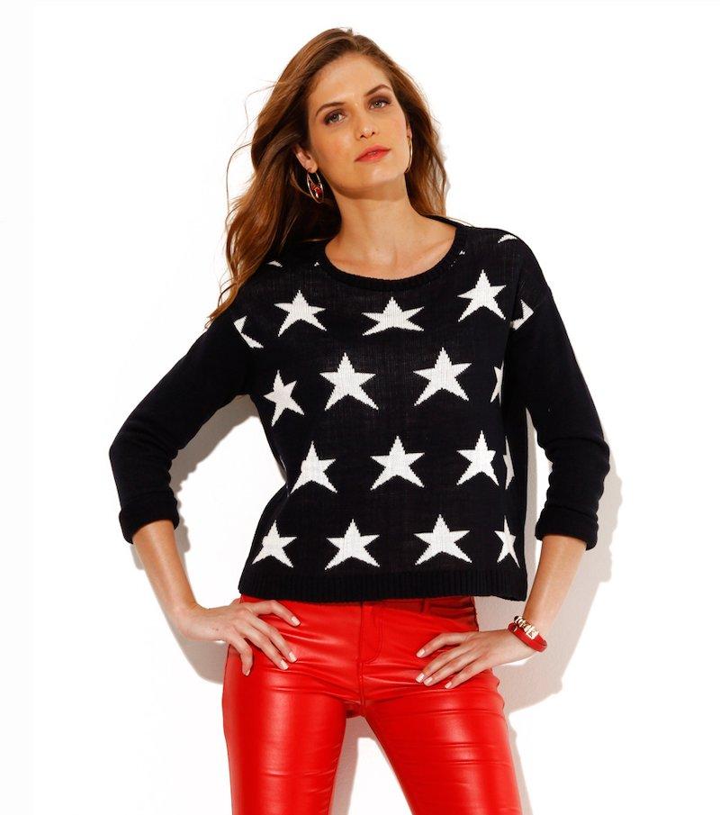 Jersey mujer manga larga estrellas