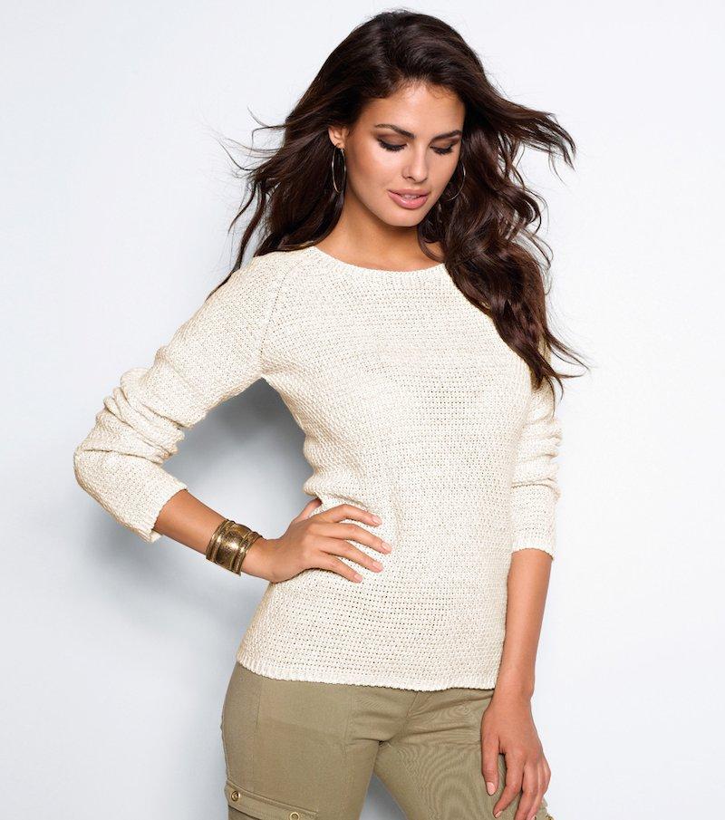 Jersey mujer manga larga tricot hilos metalizados