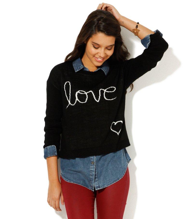 Jersey mujer manga larga tricot estampado