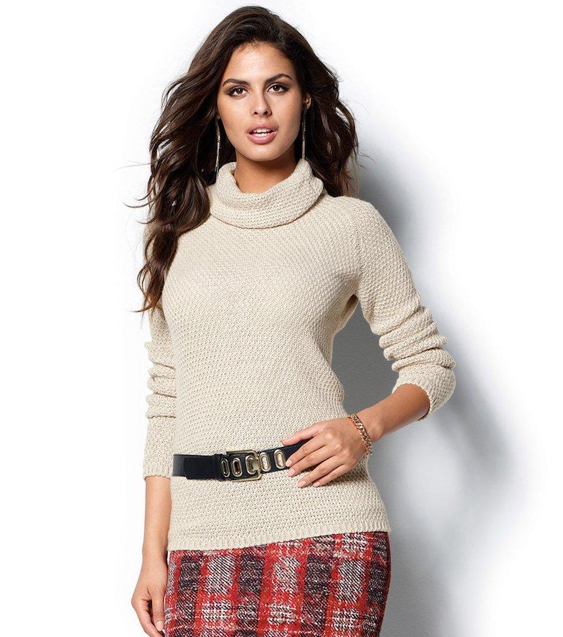 Jersey mujer manga larga hilos metalizados