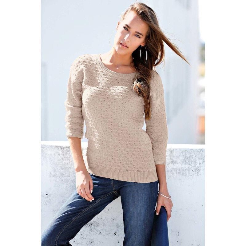 Jersey punto tricot fantasía mujer