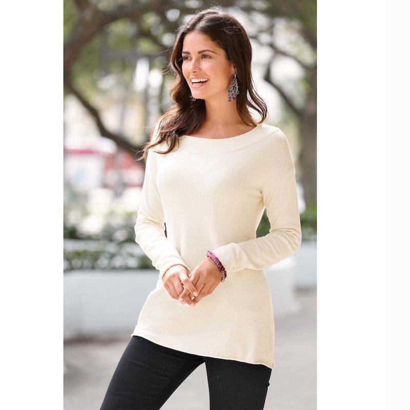 Jersey mujer manga larga tricot suave