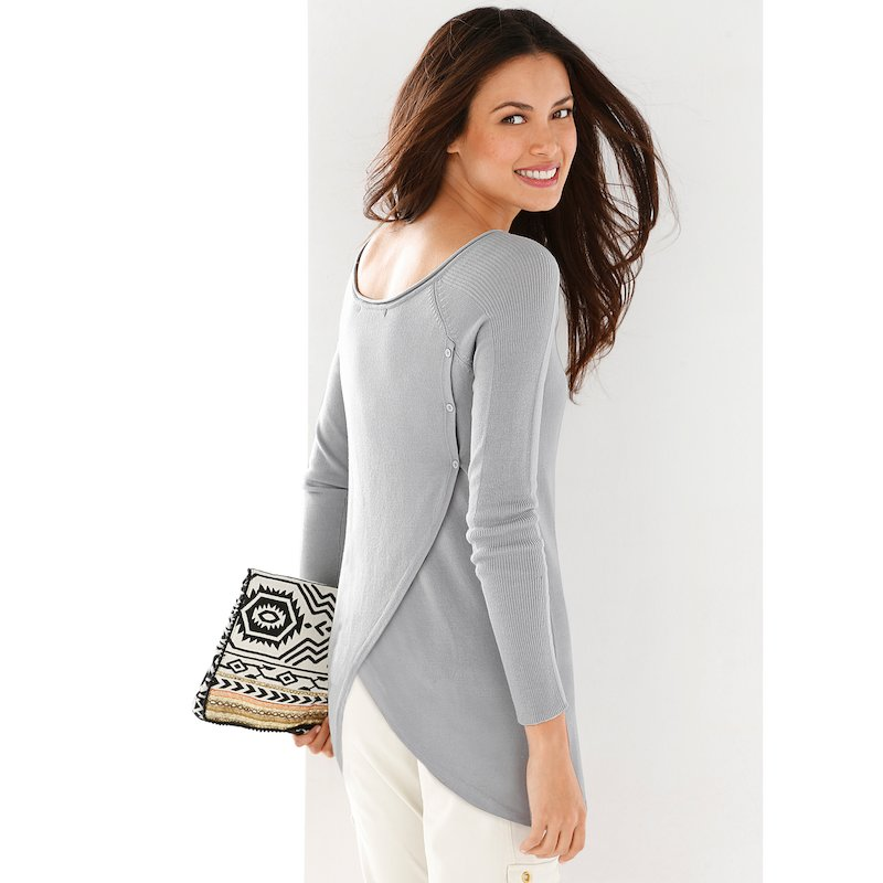 Jersey mujer manga larga espalda cruzada
