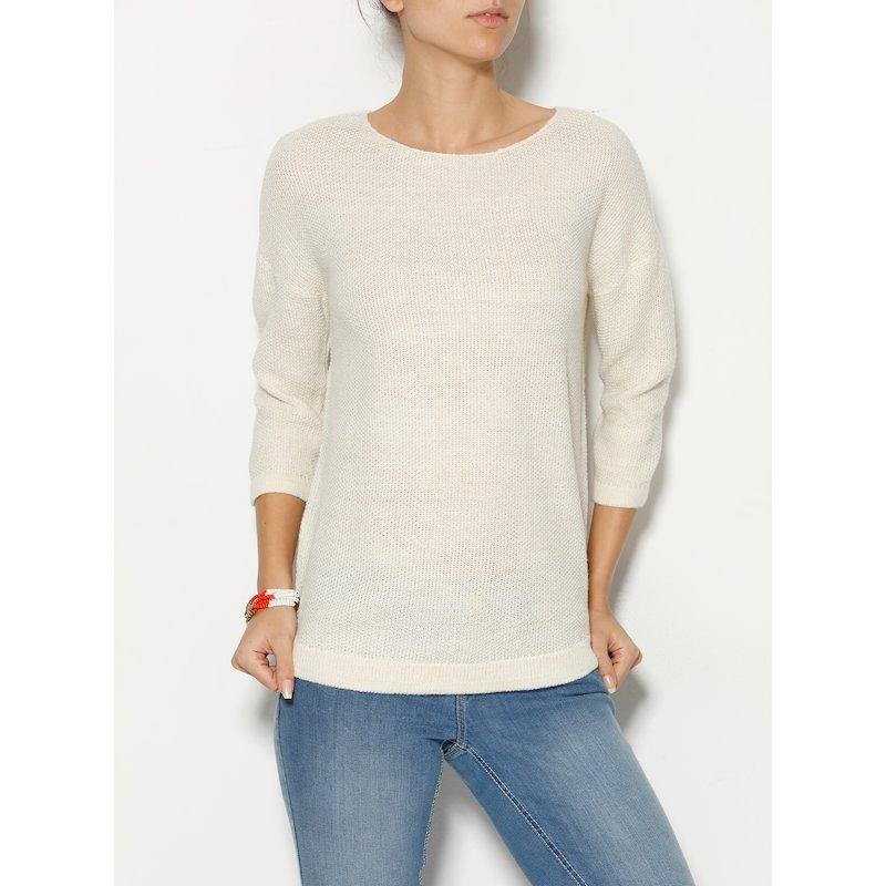 Jersey mujer tricot con hilos metalizados