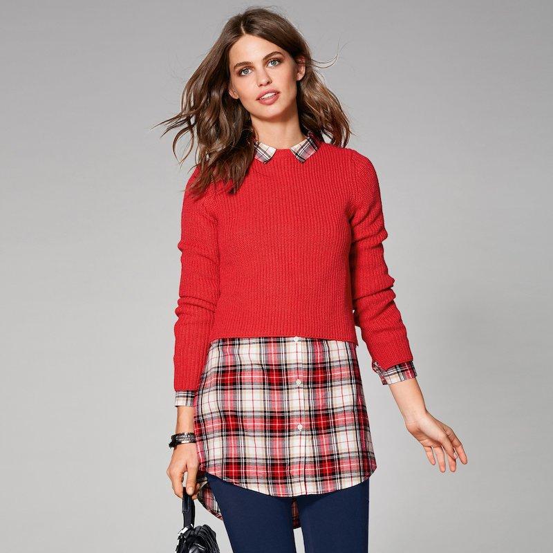 Jersey punto tricot con aberturas laterales