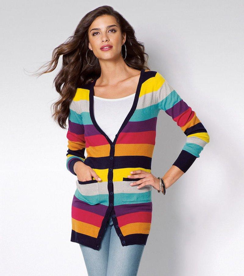 Chaqueta cárdigan larga mujer manga larga tricot