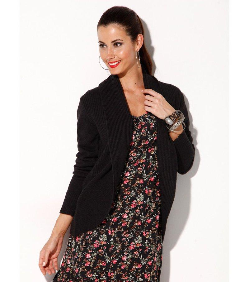 Chaqueta mujer manga larga tricot